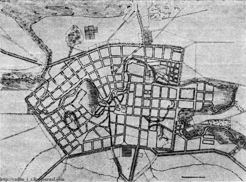 План города в XIX столетии