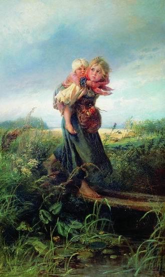 """""""Я не зарыл своего богом данного таланта в... А вот эта картина Константина Маковского  """"Дети, бегущие от грозы """" 1872..."""