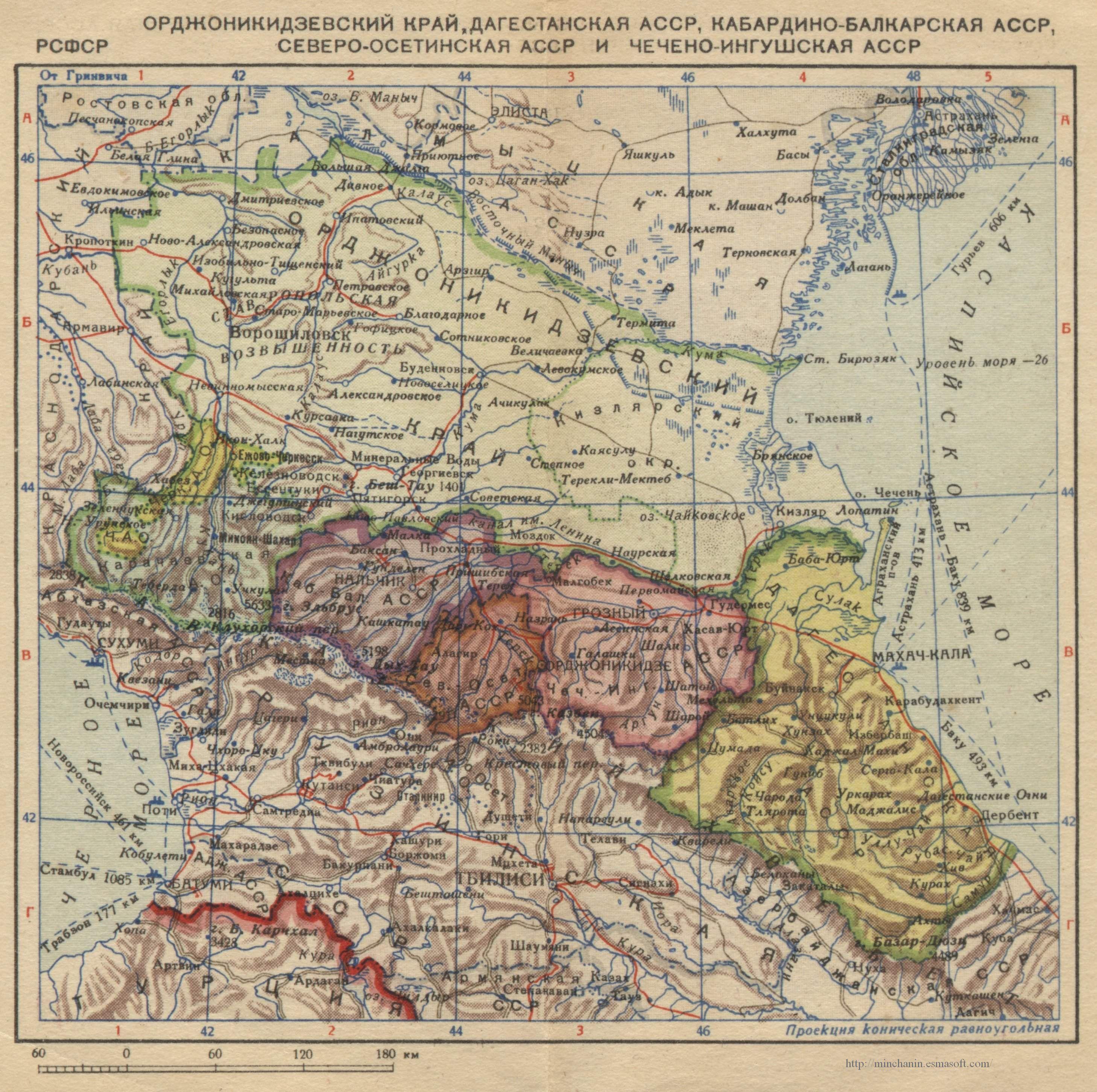 Historical Maps Of The Caucasus - Caucasus map